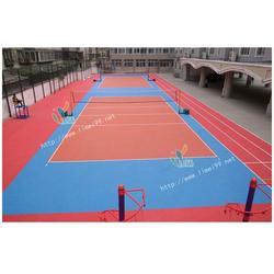 晋州PVC运动胶地板、立美建材、室外PVC运动胶地板图片