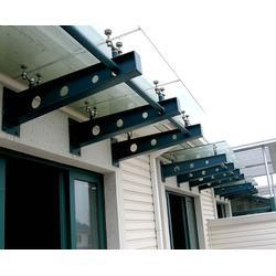 钢结构雨棚-安徽美铖雨棚公司-淮北钢结构雨棚图片