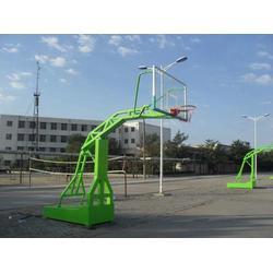 户外地埋方管篮球架,浙江方管篮球架,强森体育厂家直销(查看)图片
