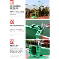 凹箱式篮球架品牌-浙江箱式篮球架-强森健身路径合作授权图片