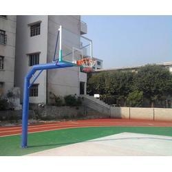 地埋圓管籃球架-圓管籃球架-強森體育器材合作授權(查看)圖片