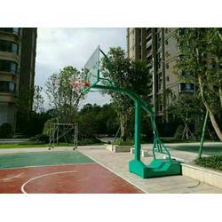 移动式凹箱篮球架报价-浙江移动式凹箱篮球架-强森体育器材招标图片