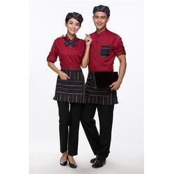 短袖工作服定制-工作服-松子红服装图片