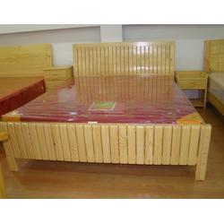 酒店松木床柜-怡林家具-平顶∏山酒店松木床柜图片