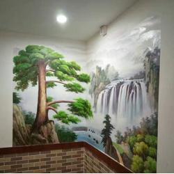 南昌办公室墙面彩绘_光阴绘墙绘_抚州墙面彩绘图片