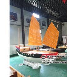 哪里有小型海盗船 景观装饰帆船 广场装饰手工木船制作厂家图片