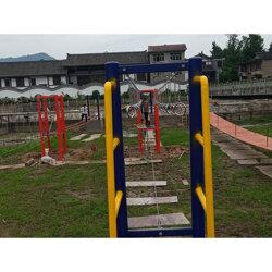 网红吊桥项目生产安装图片