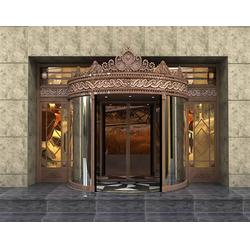 新沂旋转铜门,无锡市嘉特安铜门厂,旋转铜门厂商图片