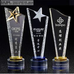 水晶刀片奖杯,公司周年庆典活动纪念品,上海奖杯奖牌制作厂家图片