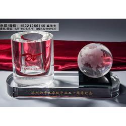 上海定做水晶球摆件、商务馈赠礼品、公司集团年会纪念品设计制作厂家图片