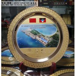 设计定制港口建成周年纪念牌、送给施工方的纪念品、中外合资项目落成纪念品制作厂家图片