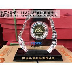 济南周年庆典纪念品定做,公司成立10周年纪念牌,水晶奖牌纯银奖章制作厂家图片