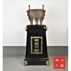 大型落地純銅鼎擺件廠家直銷、辦公室客廳裝飾落地擺件定制圖片