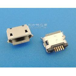 MICRO usb插板5.9间距5P-B型两脚1.25长SMT针加长0.75卷边无定位柱 编带图片