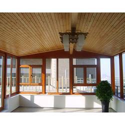 太原老战友断桥铝门窗、钢化玻璃天棚设计施工图片
