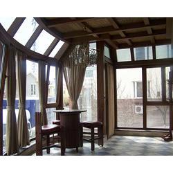 夏县玻璃顶阳光房,太原老战友门窗,玻璃顶阳光房制作过程图片