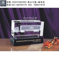 奠基仪式纪念品,物流公司开业礼品水晶内雕工艺品定制图片
