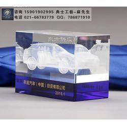 水晶内雕汽车模型,车行开业纪念品,4S店开业剪裁仪式礼品图片