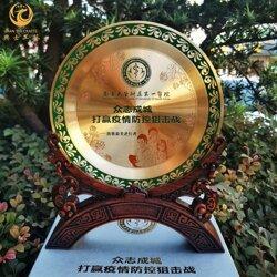 抗疫表一���耳彰纪念牌,疫情先进个人表彰奖牌,纯铜腐蚀工艺礼品图片