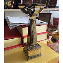金属扬子杯奖杯,省市优质工程质量奖品 �s毛��图片