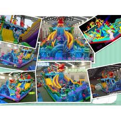 热卖中 冰雪世界移动水上乐园 充气水滑梯 支架水池 大闹龙宫充气城堡大气包图片