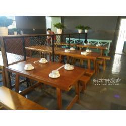 定制餐馆农家乐实木防腐餐桌大排档餐饮龙虾店长方形餐桌图片