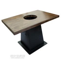 生产火锅桌一人一锅,涮羊肉桌子,火锅实木桌椅厂家定制图片