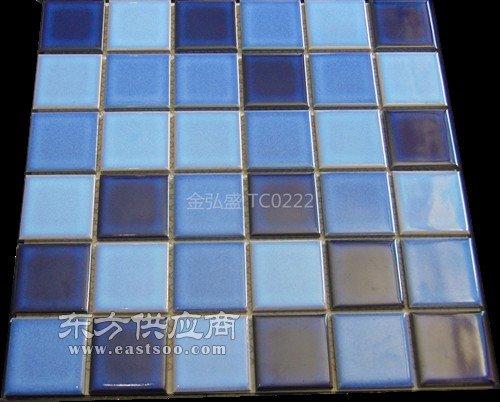 游泳池马赛克拼图厂家.别墅泳池专用结晶釉马赛克瓷砖图片