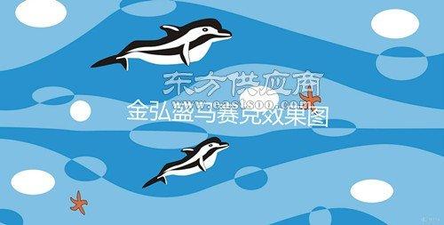 佛山景观游泳池佛山陶瓷马赛克海豚拼图瓷砖