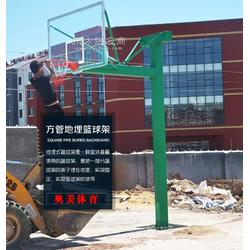 通辽地埋式单臂篮球架图片