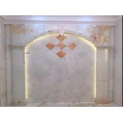 玉石背景墙订制 国色天香(在线咨询) 吉安玉石背景墙图片