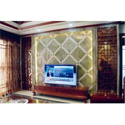 天然玉石背景墙哪家好_国色天香_苏州玉石背景墙图片