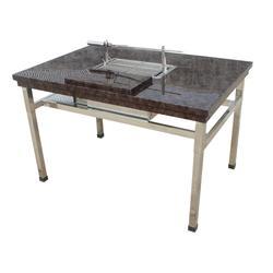 烧烤桌子,喀什烧烤桌子,蔚蓝环保(图)图片