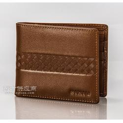 专业订做真皮钱包 男士商务软皮钱夹竖款小钱包定制LOGO图片