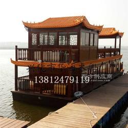 双层画舫船 电动观光船 仿古木船 餐饮船图片