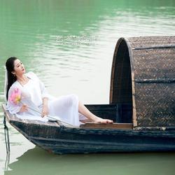 水上景观装饰船手划船乌蓬船图片