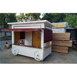厂家直销 专业生产步行街小吃实木售货车 木制流动售卖车 厂家图片