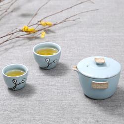 旅行茶具、旅行茶具 竹茶盘茶具、金镶玉(多图)图片