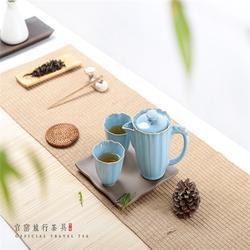 金镶玉汝窑茶具_汝窑茶具_汝窑茶具图片