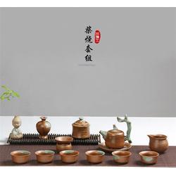 陶瓷茶具、金镶玉陶瓷茶具套装、宜兴陶瓷茶具图片