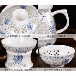 金镶玉 7头保温双层陶瓷茶具套装-茶具套装图片