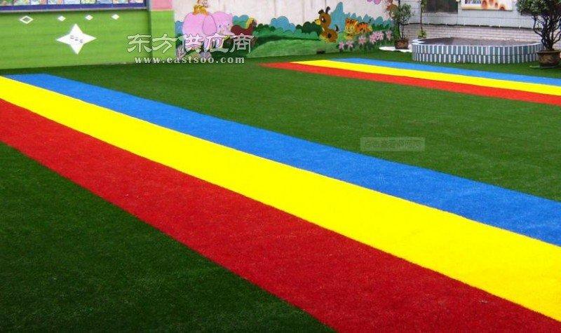 幼儿园人造草坪生产厂家四色跑道图片