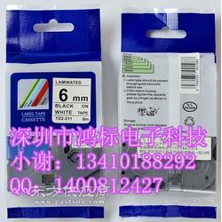 兄弟TZe线缆标签色带TZ-FX241白底/黑字图片