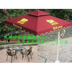 供应绿色中柱伞 户外休闲伞台椅 度旋转罗马伞 供应绿色中柱伞图片