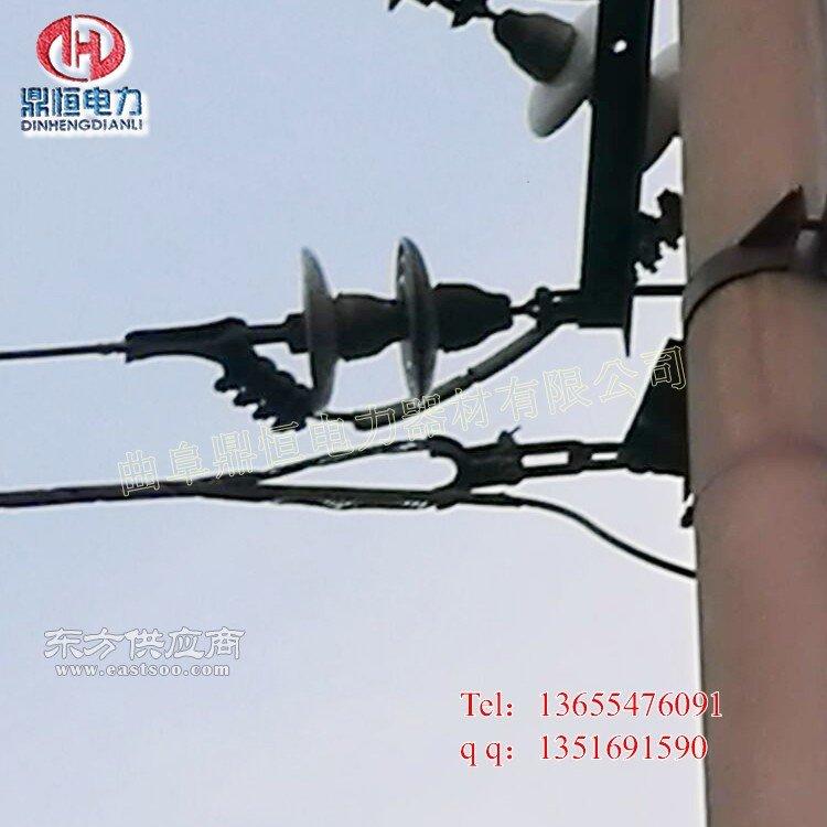 光缆杆用抱箍 电线杆抱箍杆顶头抱箍订做厂家示意图