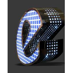 温州点阵冲孔发光字-点阵冲孔发光字公司-朗星标识(推荐商家)图片