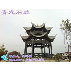 青龙石雕技艺精湛(图)_石凉亭厂家_石凉亭图片