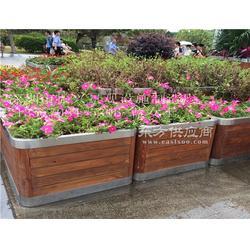 厂家定做户外木质花箱 防腐实木花箱 立体种植槽定制图片