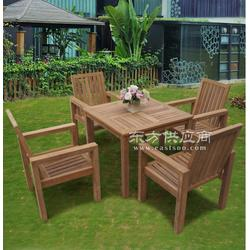振兴实木餐桌椅一桌四椅阳台户外桌椅 可折叠图片