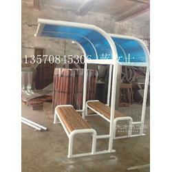 带雨棚塑木休闲椅 休闲椅定制 社保休闲椅采购图片